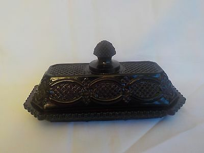 Avon 1876 Cape Cod Ruby Red Covered Butter Dish MIB