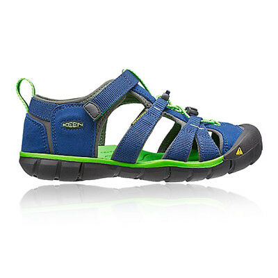 Keen Seacamp II CNX Junior Green Blue Walking Camping Sandals Summer Shoes