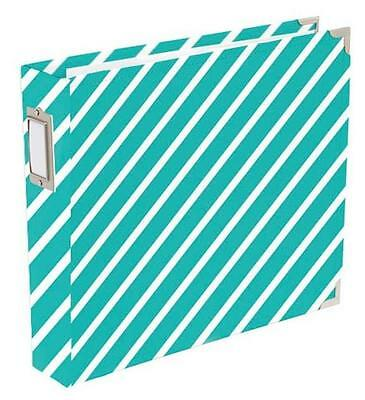 Becky Higgins ~ Project Life ~ Awesome ~ Diagonal Stripes Scrapbook Album 12x12""