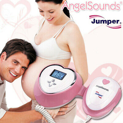 Angelsounds Baby Heart Monitor Fetal Doppler 3MHz Probe, Backlight LCD, FDA CE