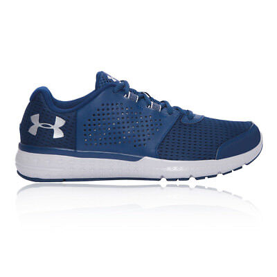 Under Armour Micro G Fuel Mens Blue Cushioned Running Road Shoes Trainers