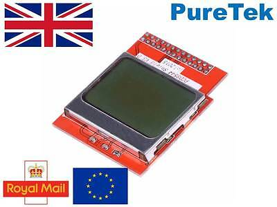 "PCD8544 84x48 1.6"" LCD Screen White back light  Nokia 5110 Arduino RPi"