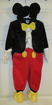 Disney Mickey Mouse Costume Dress Up Boys/girls Size 12-18 Months Kids Toddler