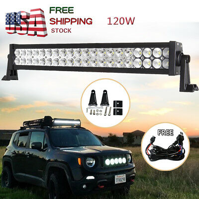 24 inch Led Light Bar Flood Spot Combo Pattern Jeep Truck Ford Offroad SUV 20/24