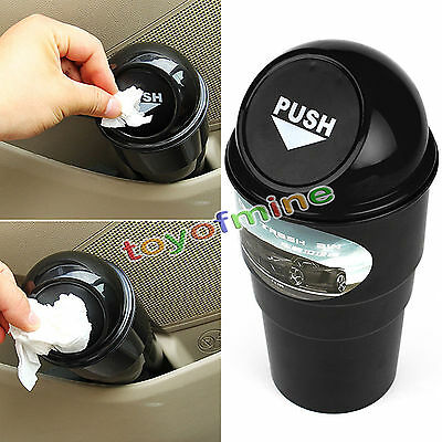 Auto Car Trash Can Garbage Mini Dust Bin Coin Holder Ashtray Cup Home