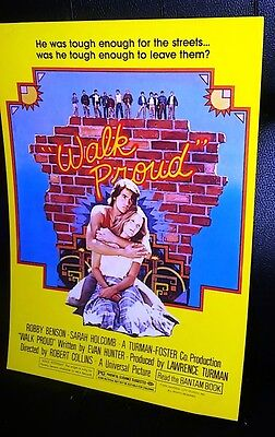 WALK PROUD {ROBBY BENSON} Original Movie Programs 70s