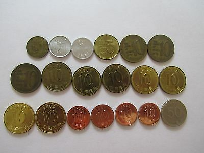 Lot of 19 Different South Korea Coins - 1967 to 2009 - Circulated & Uncirculated
