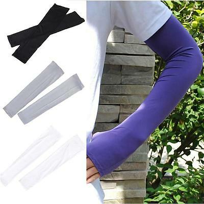 2pcs Arm Cooling Sleeves Gloves for UV Sun Protection Cover Driving Fishing  DF