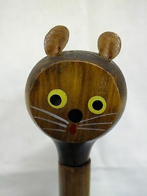* RETRO KITSCH Cat Letter Opener & Pencil Sharpener. Wood. Collectible
