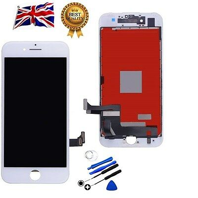 """White For Apple iPhone 7 4.7"""" LCD Display Touch Screen Digitizer Replacement UK"""