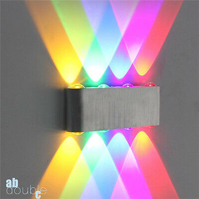 Modern 8W LED Wall Light Up Down Sconce Spot Lighting Color Crystal Indoor Lamp