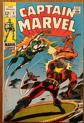 CAPTAIN MARVEL #9 First Series Silver Age Comic Book 7.5 VF-