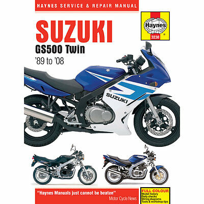 Suzuki GS500 Twin 1989-2008 Haynes Workshop Manual