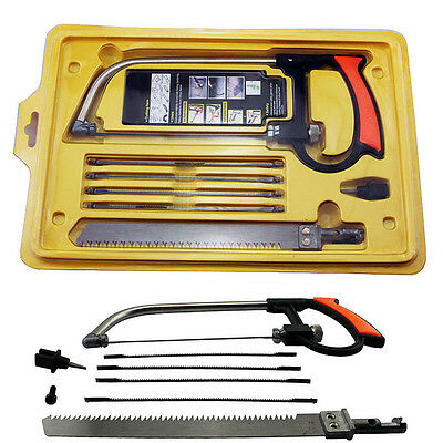 Practical 8 in 1 Metal Magical Hacksaw Hand Saw Wood working Model 6 Blades tool