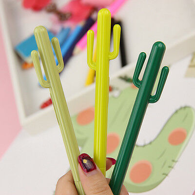 Office School Supplies Cute Cactus Design Gel Pen Ballpoint Pen Writing Pen Gift
