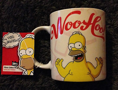 The Simpsons Collectable Homer WooHoo!  Mug -100% Official NEW With Tags