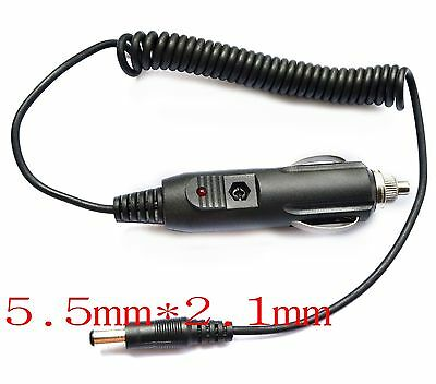 12V 1A 2A car charger Power adapter Cigarette Lighter 1.5M Cable 5.5mm-2.1mm