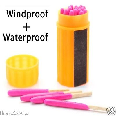 Waterproof Windproof Matches With Extra Large Heads Great Camping Fire Starters