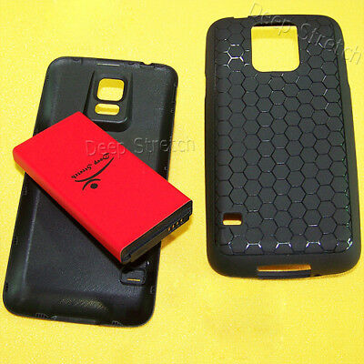 New 8900 mAh Extended Battery Cover TPU case For Samsung Galaxy S5 S903VL Phones