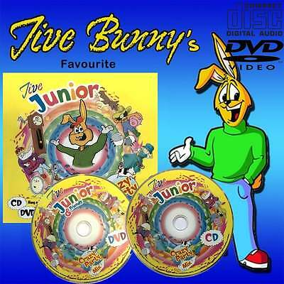 Mastermix Jive Junior Crazy Party Mix Music CD and DVD - 62 Track Nursery Rhymes