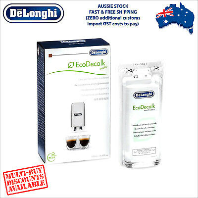 Genuine DeLonghi Descaler for Coffee Machines - 100ml - EcoDecalk DLSC101