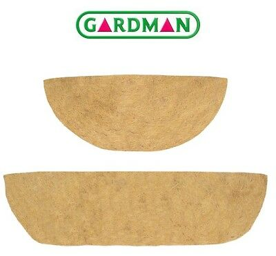 Gardman Coco Liners for Hanging Baskets & Wall Trough, Various Sizes