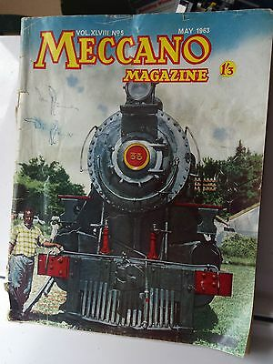 Vintage Meccano magazine May 1963. hobbyist. trains, buses .models