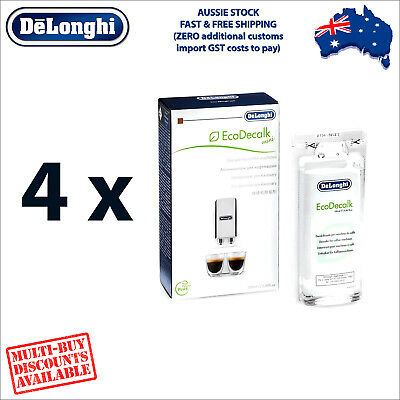 4 x DeLonghi Descaler for Espresso Machines - 100ml - Eco Decalk DLSC101