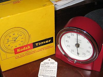 KODAK TIMER, Darkroom Photography vintage Original BOX 60 minutes mechanical