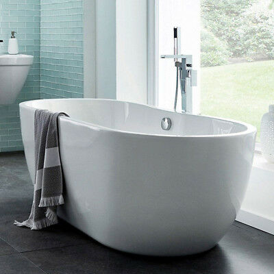 Freestanding Bath Modern Bathroom Suite Double Ended Roll Top Bath Tub 1400mm
