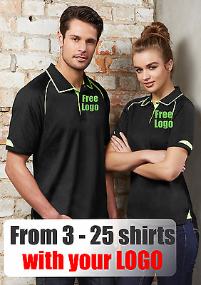 From 3 - 25 shirts Mens Fusion Polo with Your Embroidered LOGO (Biz P29012)