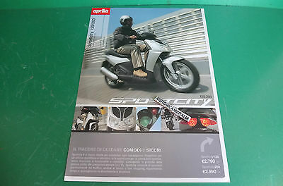 Aprilia Sportcity 125 200 Scooter Racing Catalogo Brochure Depliant Catologue