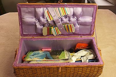 Vintage Sewing Box, with contents, vintage threads etc..