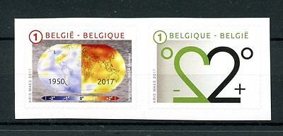 Belgium 2017 MNH Climate Change Global Warming 2v S/A Set Science Stamps