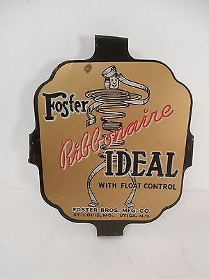 Vintage sign foster ribbonaire ideal matress advertising spring