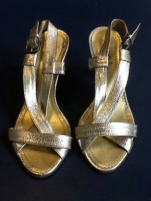 81c830d27978 J CREW CAPRI Metallic Crystal Leather Thong Sandals shoes gold size ...