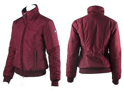 Equiline Rose Ladies Fitted Padded Bomber Jacket blackcurrant size M or UK 10