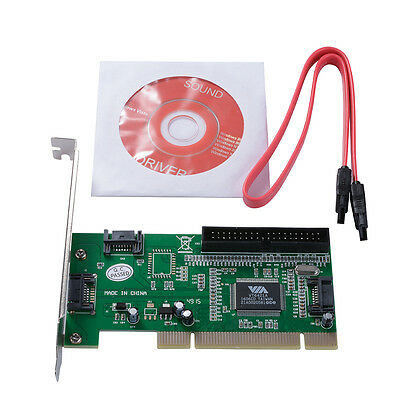 3 SATA + 1 Port IDE to PCI RAID Karte Kontroller Adapter Converter VIA6421 AC388