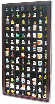100 Thimble Display Case Cabinet Shadow Box, with glass door, TC100-MAH