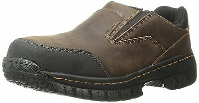 Men's Slip On Steel Toe Skechers Work Shoes 77066 Dkbr