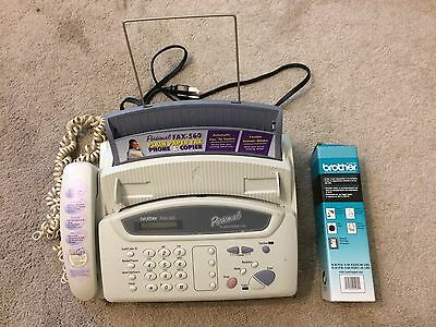 Brother FAX-560 Fax / Phone / Copier (uses Plain Paper) w/ EXTRA PRINT RIBBON