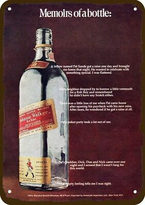 1972 JOHNNIE WALKER SCOTCH Vintage Look REPLICA METAL SIGN - NOT ACTUAL WHISKY!