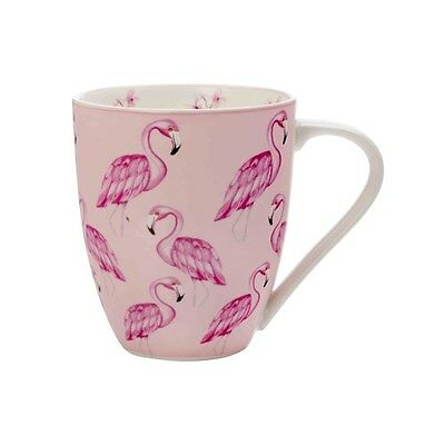 New Christopher Vine Pink Jungle Mug 500ml Flamingo