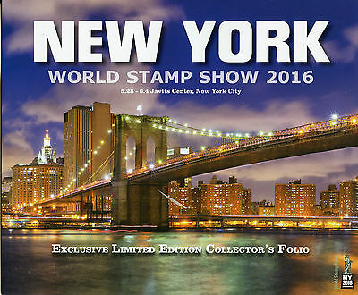 NY2016 New York World Stamp 2016 Excl Limited Ed Collectors Folio Skyline Night