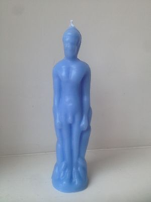 Human male figure Spell Candle - Blue
