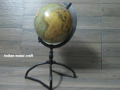 "Authentic 8"" World Globe With iron Base World Classic Series Globe Modern Maps"