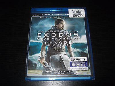 Exodus: Gods and Kings (Blu-ray Disc, 2015, Includes Digital Copy 3D) New Sealed