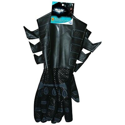 Batman Gauntlets The Dark Knight Rises Adult Mens Black Gloves Costume Accessory