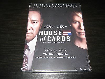 House of Cards: The Complete Fourth Season (DVD, 2016, 4-Disc Set) New Sealed