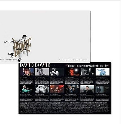 90 x David Bowie Royal Mail First Day Envelope Brand New and FDC card